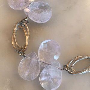 NWT Coldwater creek rose quartz necklace